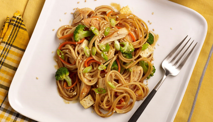 Spaghetti Vegetable Stir Fry Recipe