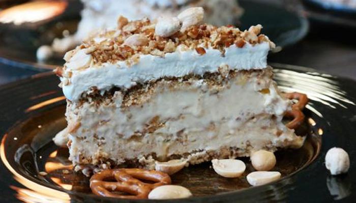Salty Peanut-Pretzel Ice Cream Cake