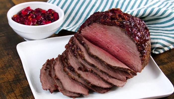 Cranberry Top Sirloin Roast