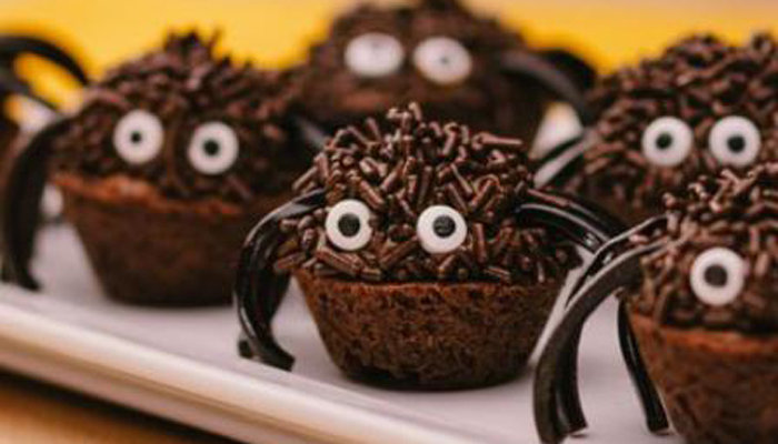 Mini Spider Brownies