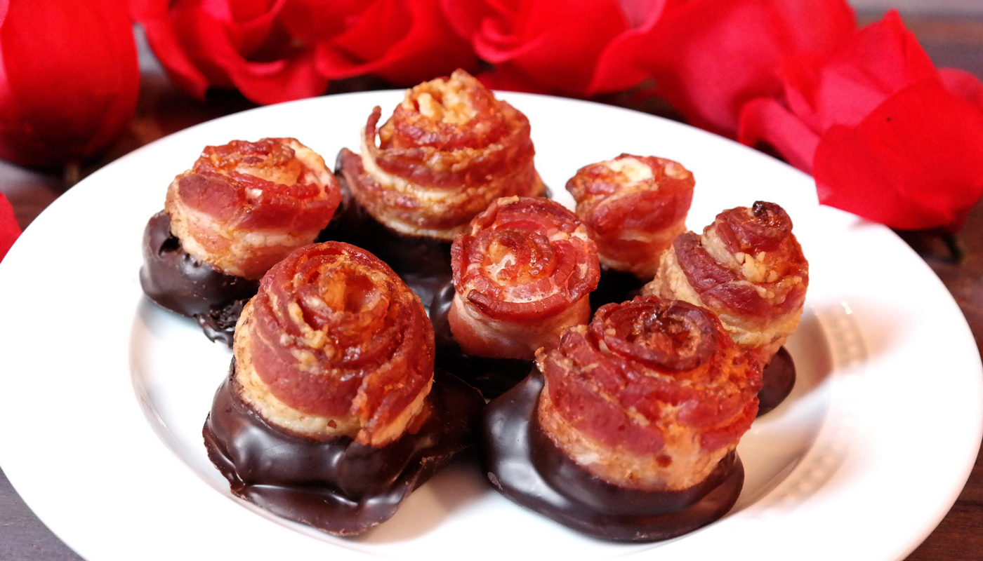 Chocolate Bacon Roses Recipe