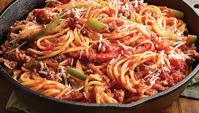 Italian Sausage, Peppers and Onions Pasta