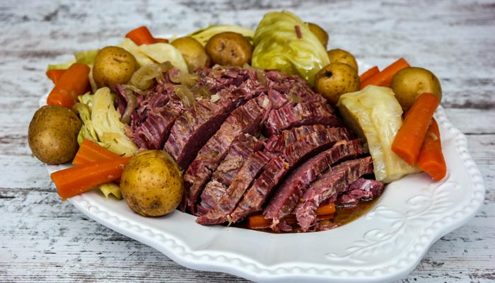 Failproof Slow Cooker Corned Beef with Cabbage Recipe