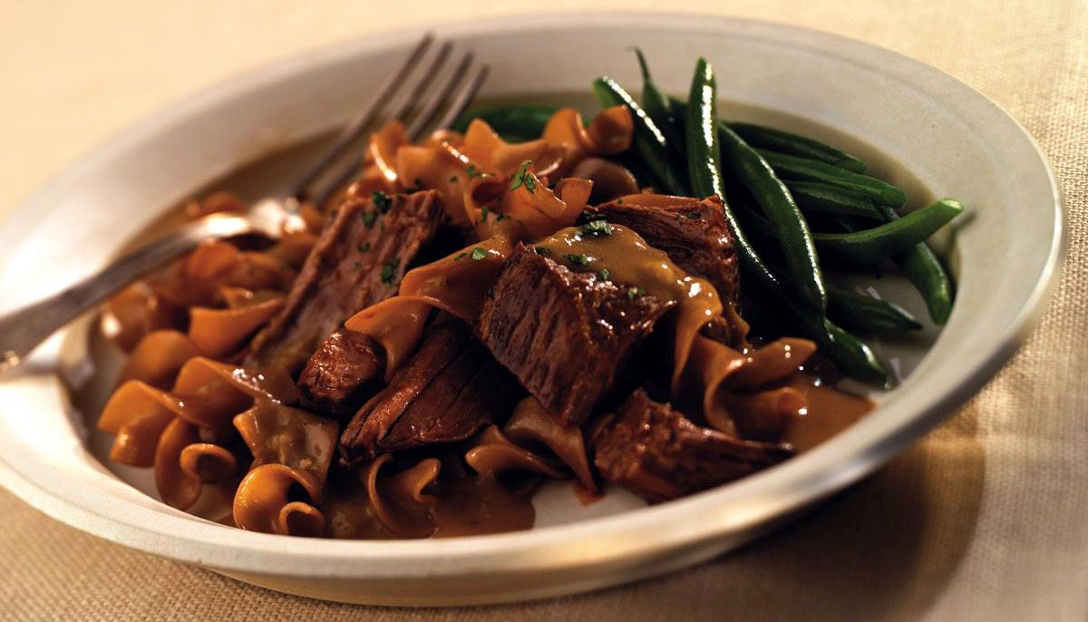 Bottom Round Pot Roast with Mushroom Onion Sauce Recipe