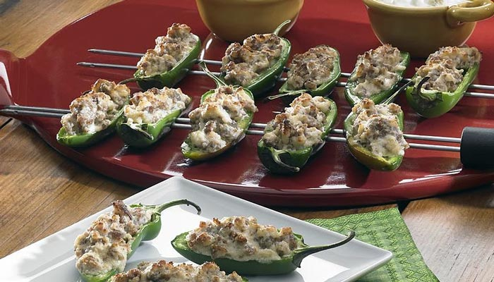 Cheesy Pepper Poppers