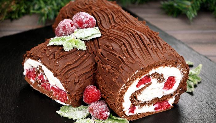 Yule Log Bûche de Noël Cake