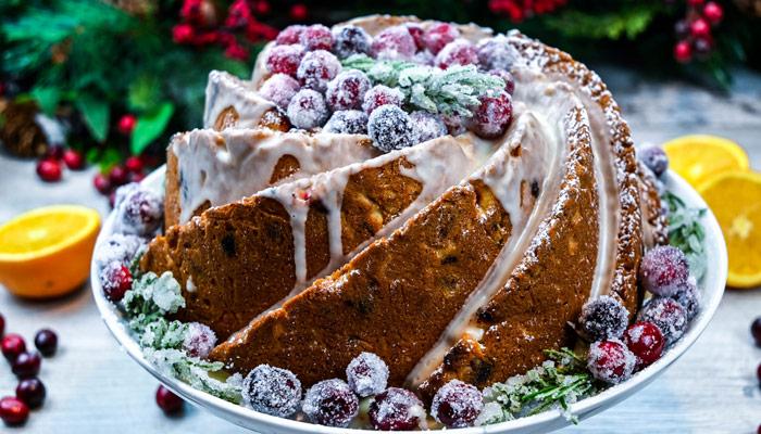 Sparkling Cranberry Cake