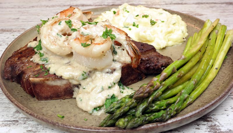 Surf & Turf with Lobster Mashed Potatoes