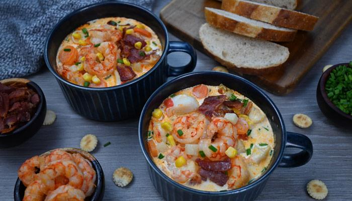 Smokey Seafood Corn Chowder