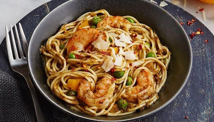 Pesto and Pepper Pasta Bowl