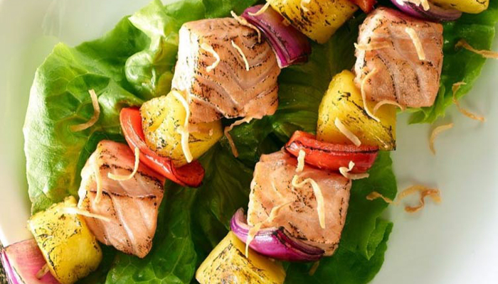 Pineapple Salmon Kabobs