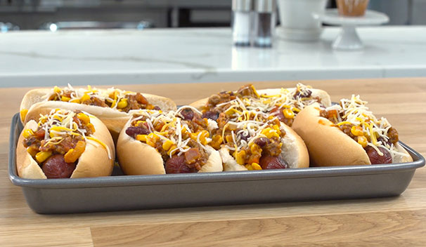Bacon Corn Chili Dogs