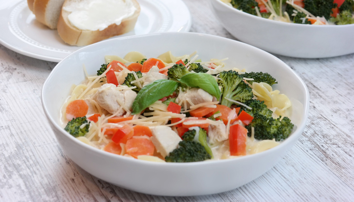 Chicken Alfredo Vegetable Soup Recipe
