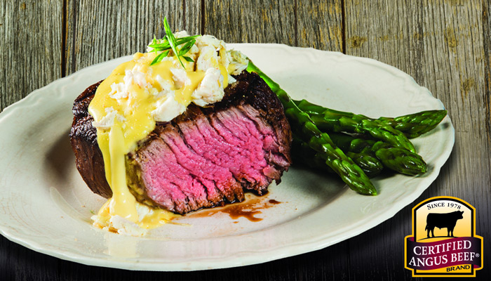 Grilled Filet Mignon with Crab Hollandaise Sauce