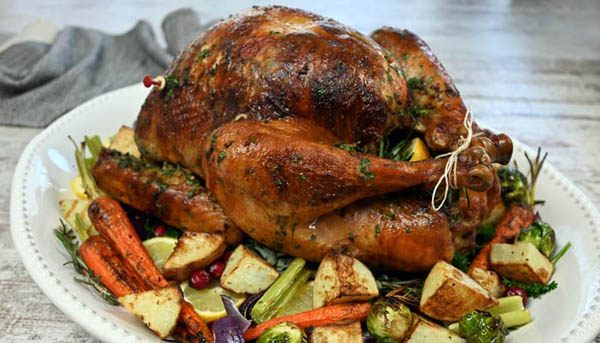 Herb  Butter Rubbed Roasted Turkey