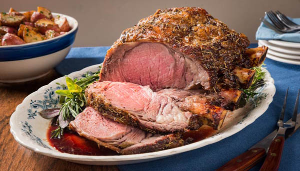 Easy Carve Pepper and Herb-Crusted Prime Rib Recipe