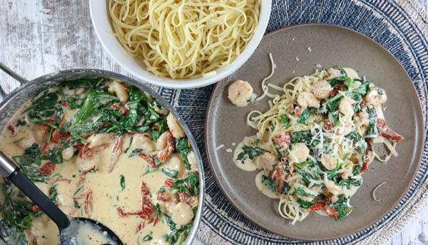 Tuscan Shrimp Pasta Recipe
