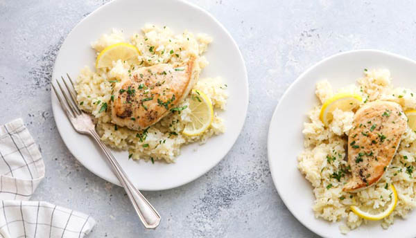Slow Cooker Lemon Chicken & Rice